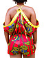 Naiset Vintage Seksikäs Boheemi Bile Klubi Loma Potkupuku,Ohut Korkea vyötärö Color Block Painettu Kevät Kesä Seksikäs Avoin selkä