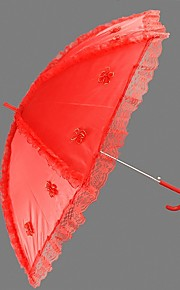 "Wedding Lace Umbrella Hook Handle 29.5""(Approx.75cm) Plastic 38.6""(Approx.98cm)"