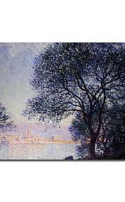Peinture à l'huile réalisée à la main sur canevas tendu - Antibes vue de la Salis de Claude Monet