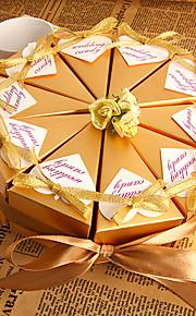 Golden Flower Favor Box (Set of 10)