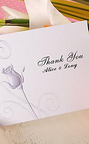 Platte Kaart 50 Stuk/Set Bedankkaarten Uitnodigingen van het Huwelijk Gepersonaliseerde