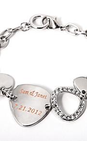 Legering/Leer Heren/Dames Gepersonaliseerde Armbanden Bergkristal