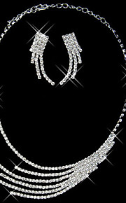 Schitterend collier kwastje dames sieraden set (45 cm)