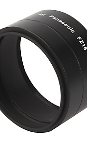 58mm Metal Digital Camera Lens Adapter Tube for Panasonic FZ18 - Black