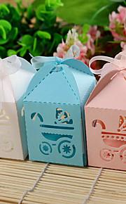 Baby Shower Part favoriserer og gaver-12Stykke/Sæt Yndlingsæsker Kort Papir Have Tema Firkantet Ikke-personaliseret Pink / Blåt / Hvid