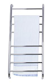 80W rustfrit stål vægbeslag cirkulært rør håndklæde tørrestativ