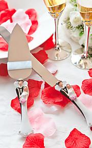 סטים משרתים כלה סכין עוגת חתונה& שרת עוגת חתן