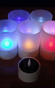 energia solare ha colore cambia ricaricabile senza fiamma di candela luci