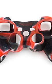 Beskyttende tofarget silikonetui til PS3-kontroller (r?d og svart)