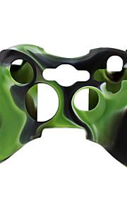 beschermende dual-color siliconen case voor de Xbox 360 controller (groen en zwart)