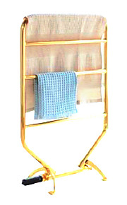 75W rustfritt stål veggfeste TI-PVD sirkulære rør håndkle warmmer tørkestativ