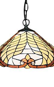 60W Tiffany Pendent Light mit 1 Licht in Glasschirm