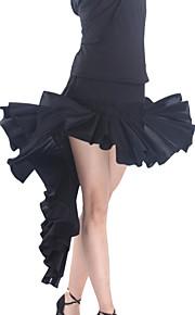 zwarte flamenco jurk viscose latin dans rok voor dames