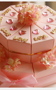carte rose boîtes en papier de mariage avec des fleurs favorisent (jeu de 20)