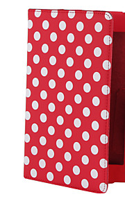 "retro polka dot 7 ""tilfelle med justerbart stativ for Google Nexus 7 android tablett"