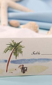 lieu cartes et lieu détenteurs carte - thème de la plage (ensemble de 12)