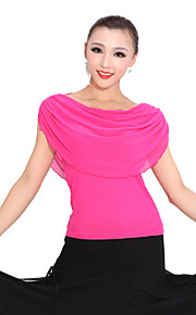 Ballroom Dancewear Tulle Modern Dance Top For Ladies