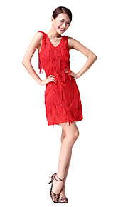 Performance Dancewear Cotton/Polyester with Tassels Latin Dance Dress For Ladies More Colors
