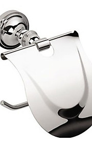 Contemporary Wall Mount Silver Chrome Finish Solid Brass Toilet Roll Holders