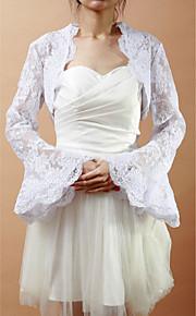 Wraps de mariage Manteaux / Vestes Manche longue Dentelle Voir l'image Mariage / Soirée Manche cloche Face ouverte