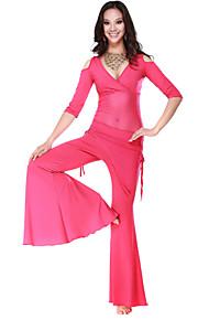 Ydelse Dancewear Crystal Bomuld og Tulle Belly Dance Outfit til damer Flere farver
