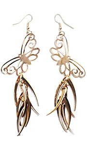 Ydelse Dancewear Alloy Butterfly Design Mavedans Drop Øreringe til Ladies