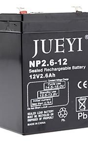 12v 2.6 ah forseglet genopladeligt batteri np2.6-12