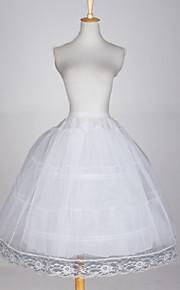 Déshabillés Robe de soirée longue 3 Filet de tulle Taffetas Blanc