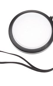 MENNON 58mm Camera Hvidbalance Objektivdæksel Cover med Håndrem (Black & White)