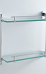 "Badezimmer Regal Chrom Wandmontage 441 x 135 x 400mm (17.3 x 5.31 x 26.7"") Messing Modern"