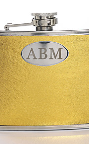 Gift Groomsman Personalized Gold 5-oz Flask
