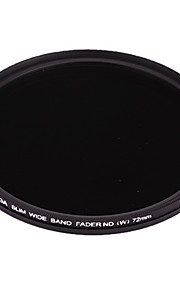 FOTGA 72mm delgado Fader ND Filtro de densidad neutra variable ajustable ND2 a ND400