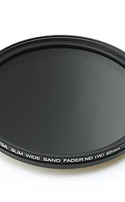 FOTGA 62mm delgado Fader ND Filtro de densidad neutra variable ajustable ND2 a ND400