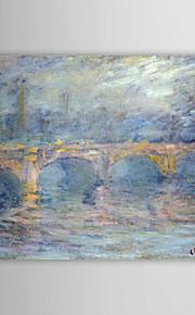 Célèbre peinture à l'huile Waterloo Bridge au coucher du soleil, Effet Rose par Claude Monet