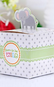 Baby Shower Party Favors & Gifts Bedank Doosjes Kaart Papier Sprookjes Thema Kubusvormig