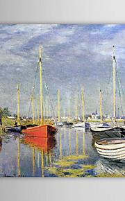 Huile célèbre tableau A Yacht à Argenteuil par Claude Monet