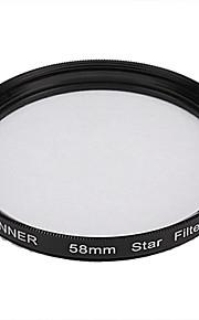 Banner 6pt 58mm Filtro Estrella para Canon, Nikon, Sony y más