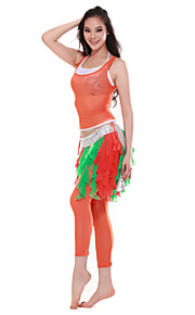Dancewear Tulle Belly Dance Outfits Top and Bottom and Belt For Ladies More Colors
