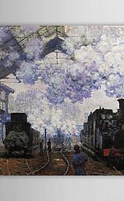 Huile célèbre peinture Arrivée à la gare Saint-Lazare de Claude Monet