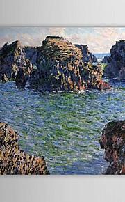 Célèbre peinture à l'huile venant à Port-Goulphar, Belle-Ile par Claude Monet