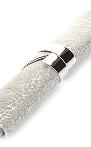 Sæt med 4 Moderne sølv Polyester Servietter
