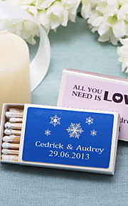 Wedding Décor Personalized Matchboxes - Snow (Set of 12)