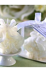 cloches de mariage bougie dans une boîte cadeau