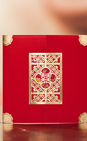 Asian Theme Double Happiness Wedding Invitation - Set of 50