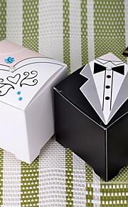 robe et la boîte de faveur de la conception de smoking (plus de couleurs), jeu de 12