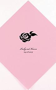 Personalizada boda Servilletas Rose (más colores) Juego de 100