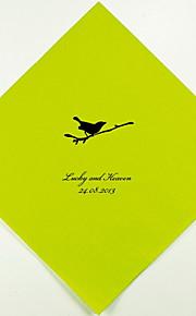 Boda personalizada servilletas Pájaro en la rama (más colores) Juego de 100