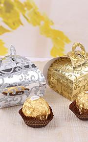 12 pièce / set titulaire de faveur - carte créative gâteau papier emballage et les boîtes dépoli elegent