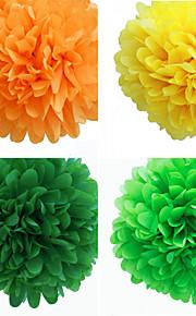 結婚式の装飾5インチの紙の花 - 4(もっと色)のセット