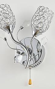 cristal chic, a mené la lumière de mur avec décoration florale 220-240v